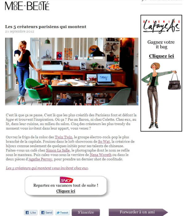 exemple bonne newsletter