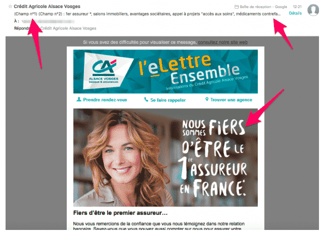 exemple mauvaise newsletter