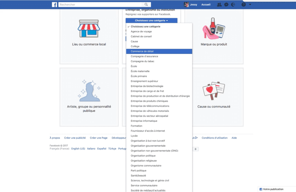 objectif page facebook
