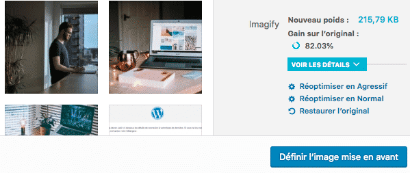 plugin wordpress imagify pour optimiser les images