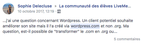 passer de wordpress.com à wordpress.org