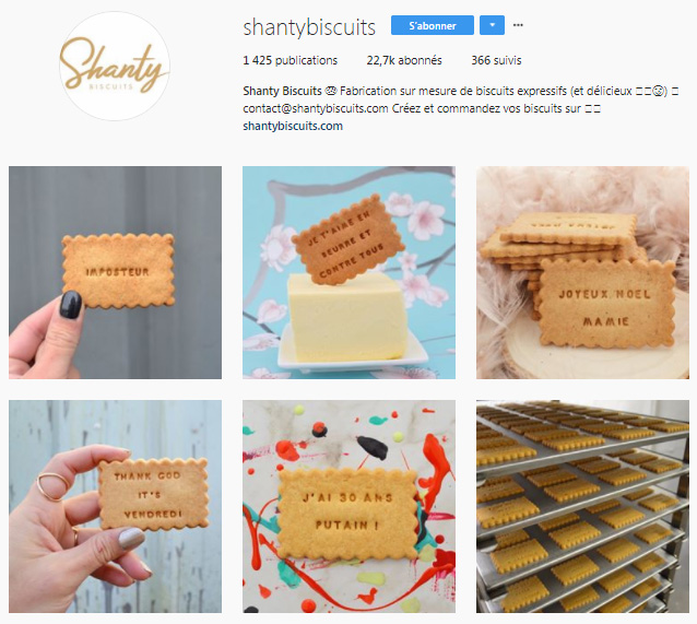 Feed instagram Shanty Biscuit