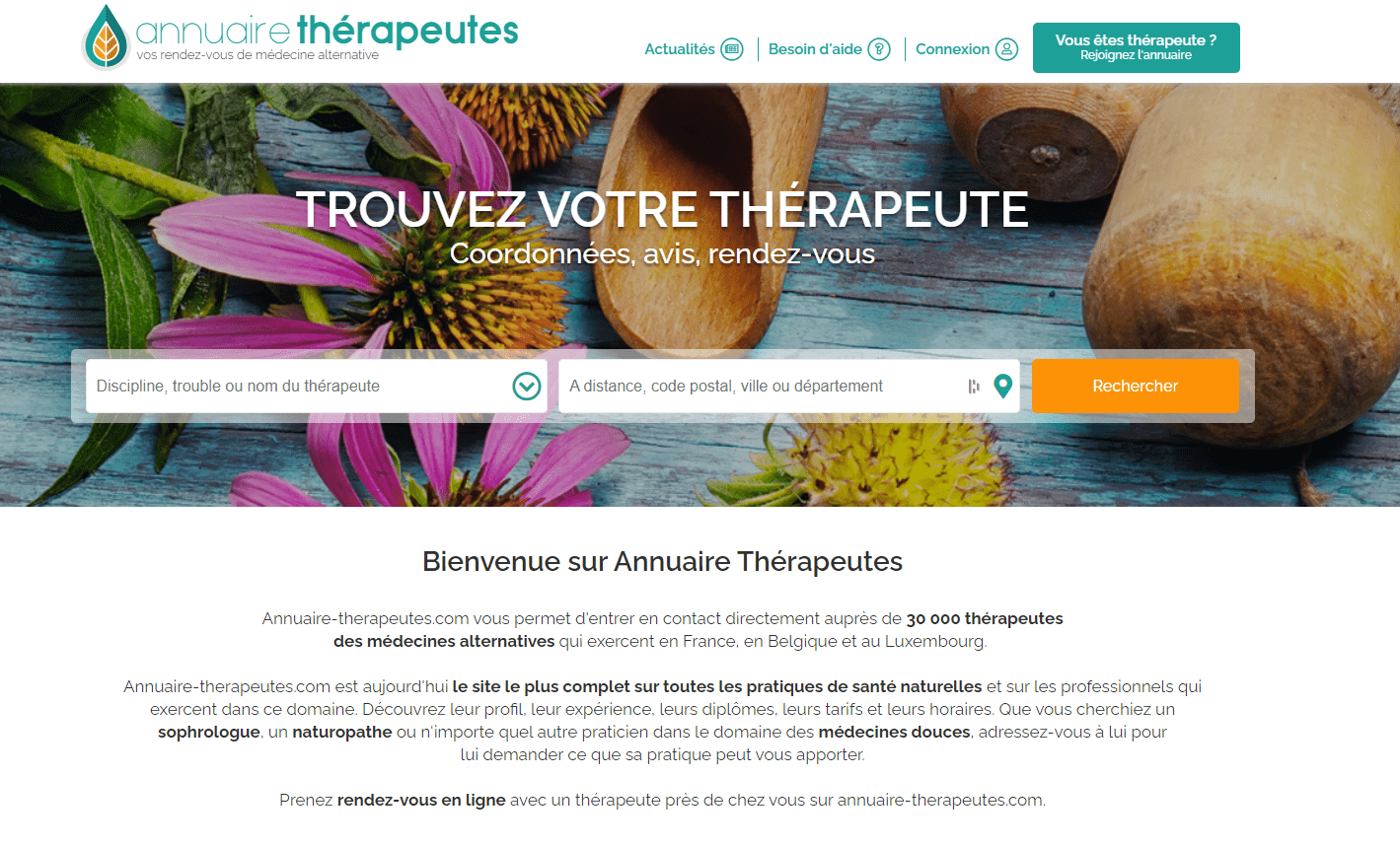 Annuaire Therapeute page d accueil
