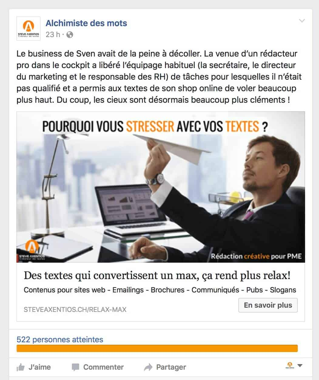 outbound marketing digital - annonce Facebook