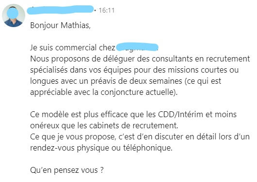 cold email exemple 3
