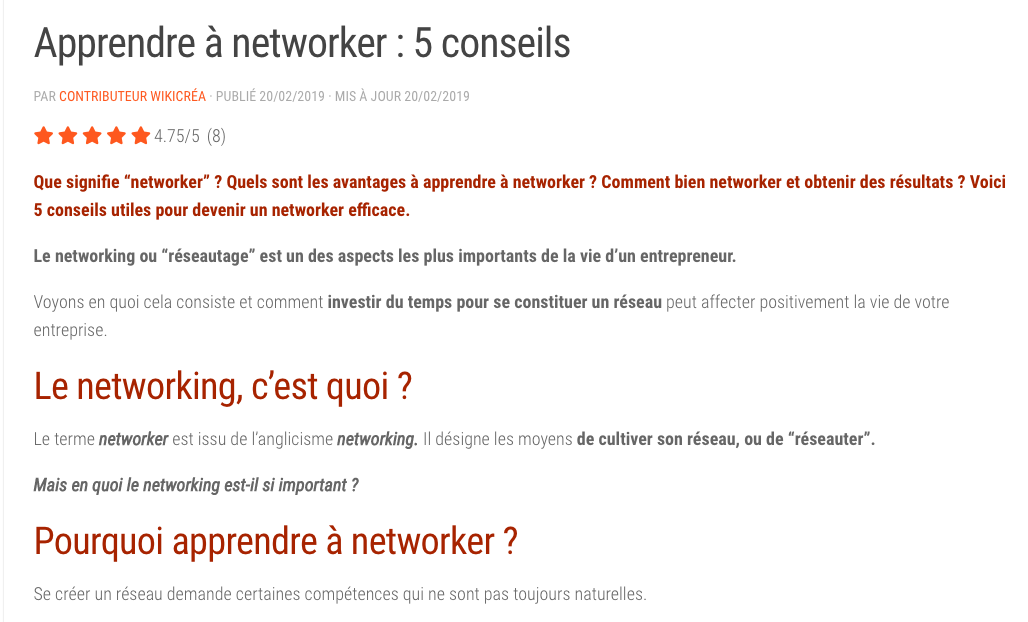 article networking